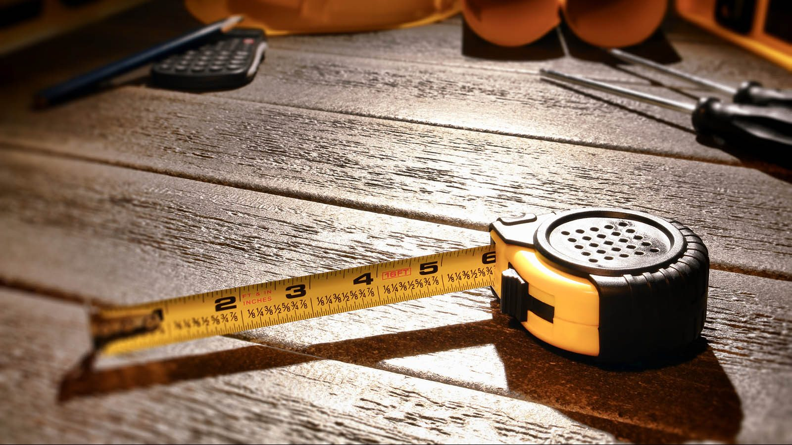 Tape Measure at Building Construction Work Site